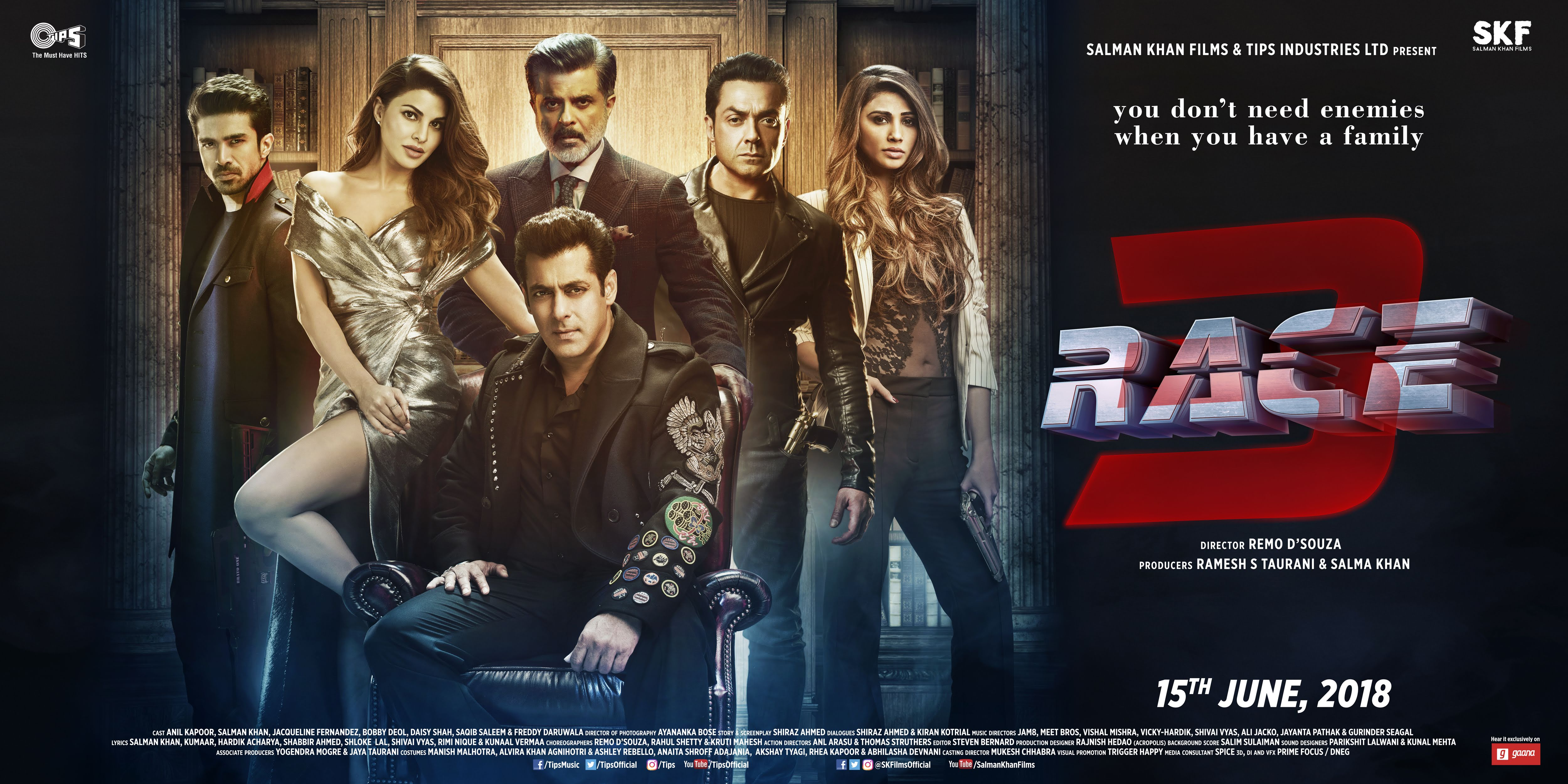 RACE 3 (2018) con SALMAN KHAN + Jukebox + Mashup + Sub. Español + Online Race318012