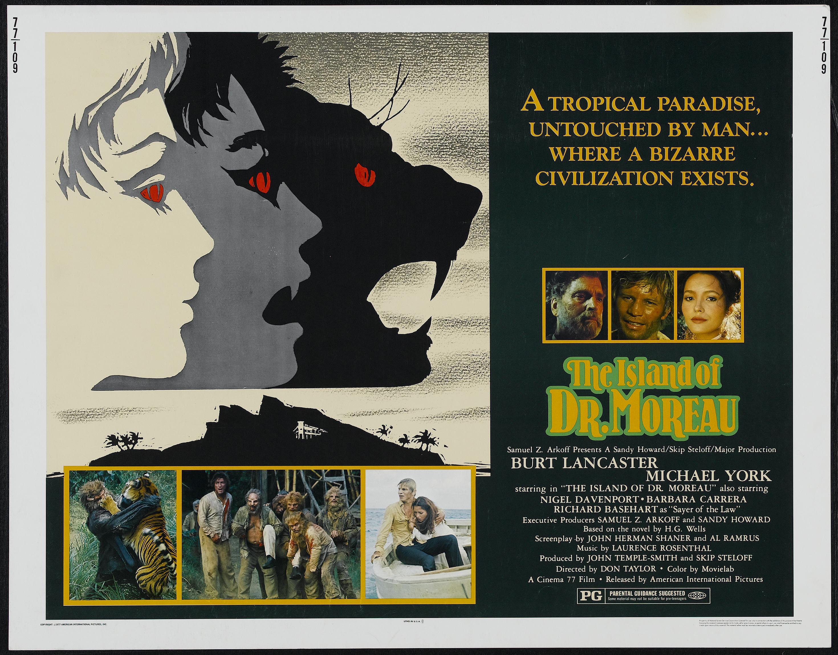 Resultado de imagen de the island of doctor moreau 1977