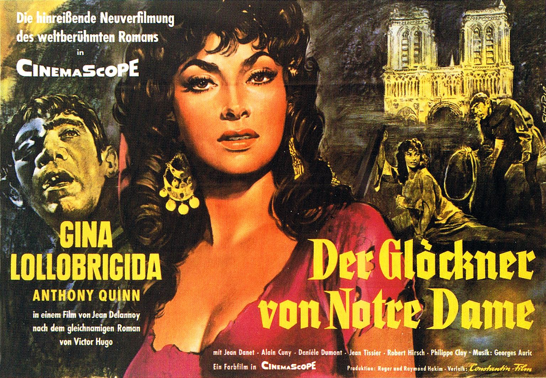 Notre-Dame de Paris aka Der Glöckner von Notre Dame (1956) German poster