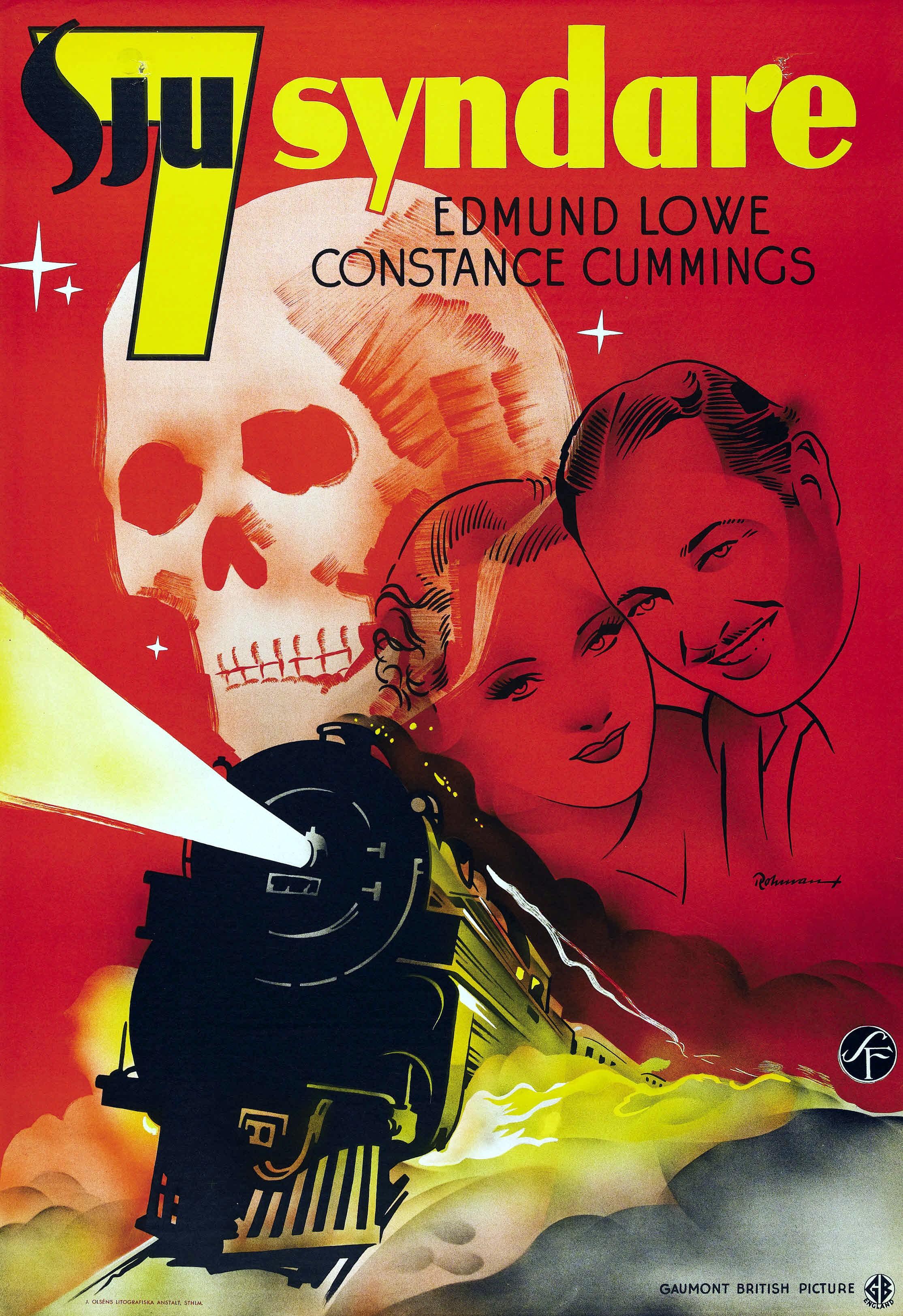 Seven Sinners aka Sju syndare (1936) Swedish poster