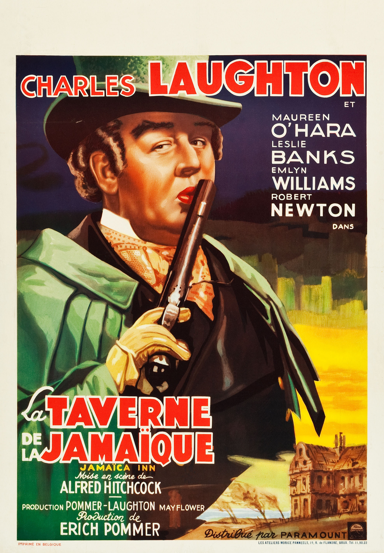 Jamaica Inn aka La Taverne de la Jamaïque (1939, dir. Alfred Hitchcock) Belgian poster