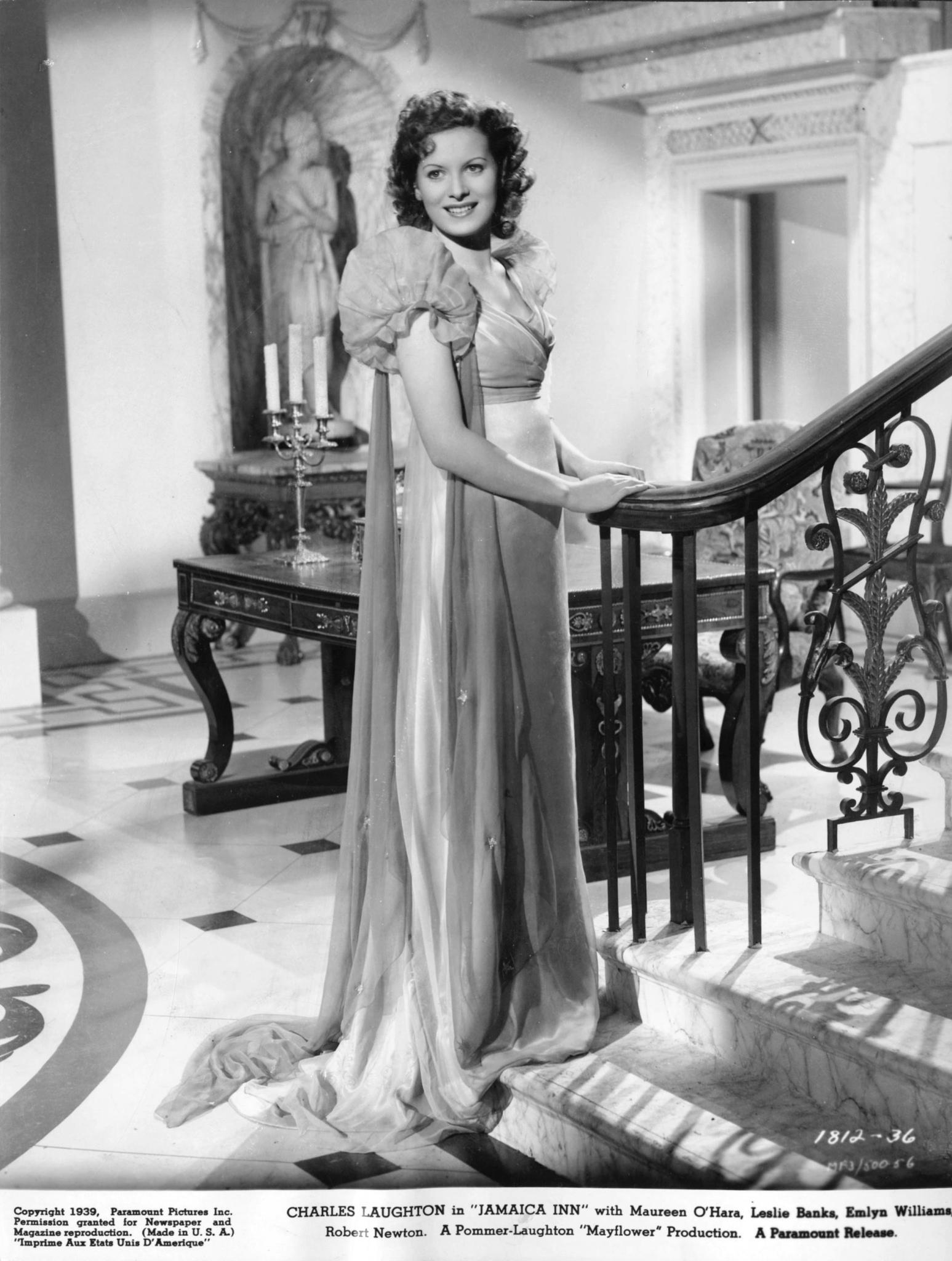 Maureen O'Hara in Jamaica Inn (1939, dir. Alfred Hitchcock)